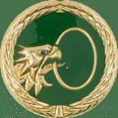Auflage Adlerkopf mit Ring grün