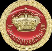 Auflage mit Krone + Jungschützenköniginschriftzug rot