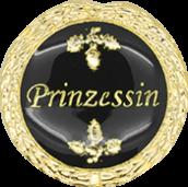 Auflage mit Prinzessinschriftzug schwarz