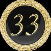 Auflage mit Schriftzug 33 Jahre schwarz