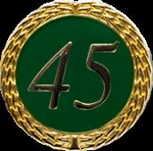 Auflage mit Zahl 45 grün