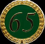 Auflage mit Zahl 65 grün