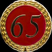 Auflage mit Zahl 65 rot