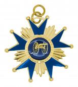 Schützenorden Stern gold/blau