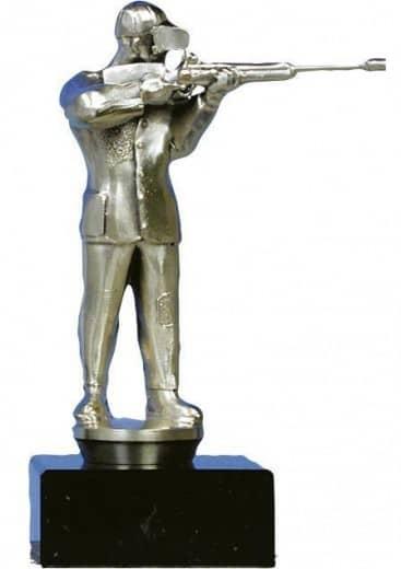 Sportschützen-Figur aus Metall 15cm