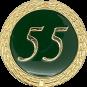 Auflage mit Schriftzug 55 Jahre grün