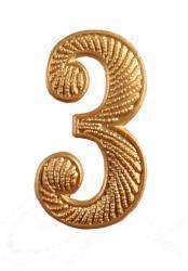 """Zahl """" 3 """" für Schulterklappe"""