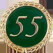 Anstecknadel 55 Jahre grün