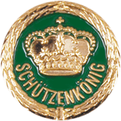 Anstecknadel Krone + Schützenkönig
