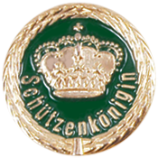 Anstecknadel Krone + Schützenkönigin