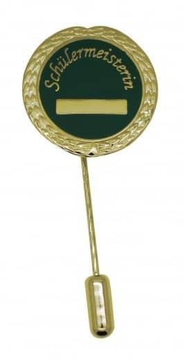 "Anstecknadel ""Schülermeisterin"" gold"