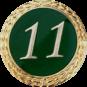 Anstecknadel 11 Jahre grün