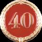 Anstecknadel 40 Jahre