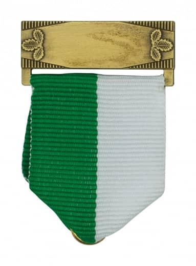 Bandschluppe mit Gravurfeld in bronze grün/weiß