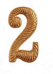 """Zahl """" 2 """" für Schulterklappe"""