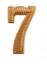 """Zahl """" 7 """" für Schulterklappe"""