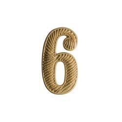 """Zahl """" 6 """" für Schulterklappe"""