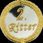 Auflage mit 2. Ritterschriftzug silber/gold