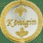 Auflage mit Königinschriftzug silber/gold