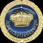 Auflage mit Krone + Jungschützenköniginschriftzug blau