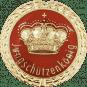 Auflage mit Krone + Jungschützenkönigschriftzug rot