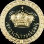 Auflage mit Krone + Jungschützenkönigschriftzug schwarz