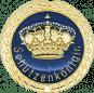 Auflage mit Krone + Schützenköniginschriftzug blau