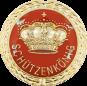 Auflage mit Krone + Schützenkönigschriftzug rot