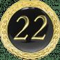 Auflage mit Schriftzug 22 Jahre schwarz
