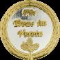 Auflage mit Schriftzug Für Treue im Verein silber/gold