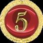 Auflage mit Zahl 5 rot