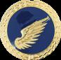 Auflage rechter Flügel blau