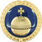 Auflage Reichsapfel blau