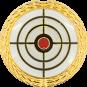 Auflage Zielscheibe weiß mit Goldrand