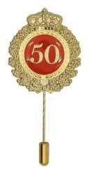 Jubiläumsnadel mit Krone und Motivauflage