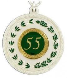 Medaille silber mit Auflage nach Wunsch