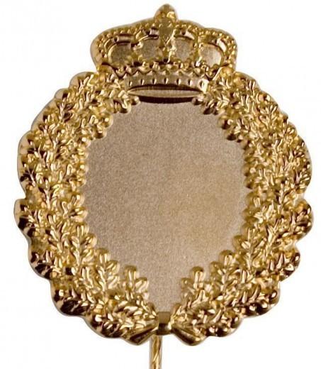 Jubiläumsnadel mit Ehrenkranz und Krone gold