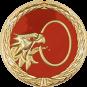 Auflage Adlerkopf mit Ring rot