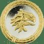 Auflage Adlerkopf silber/gold