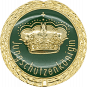 Auflage mit Krone + Jungschützenköniginschriftzug grün