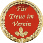 Auflage mit Schriftzug Für Treue im Verein rot