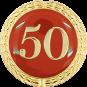 Auflage mit Zahl 50 rot