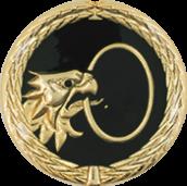 Auflage Adlerkopf mit Ring schwarz