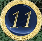 Auflage mit Schriftzug 11 Jahre blau