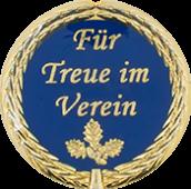 Auflage mit Schriftzug Für Treue im Verein blau