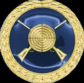 Auflage mit Schützenmotiv blau