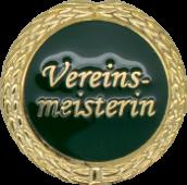 Auflage Vereinsmeisterin grün