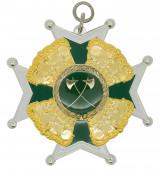 Schützenorden mit Kronen silber/grün