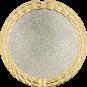 Auflage leer, goldener Rand, silberne Fläche