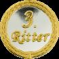Auflage mit 3. Ritterschriftzug silber/gold